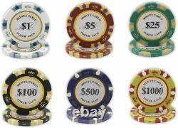 DA VINCI Monte Carlo Poker Club Set of 500 14 gram Poker Chips