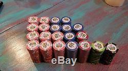 DUNES Poker chip set 523 pc. China clay. 150 still new