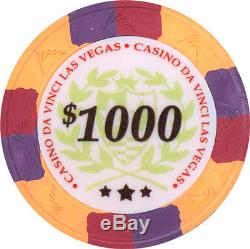 Da Vinci Casino Las Vegas 500 Poker Chip Set 10g w Case Tri Color like Paulson