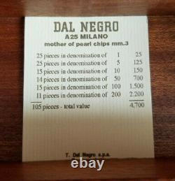Dal Negro European Poker Chip Set, 136 piece, New