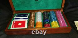 Dal Negro European Poker Chip Set, Model A6 Glamour Milano, 204 piece