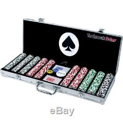 Deluxe 500 Poker Game Chip Set with Aluminum Case