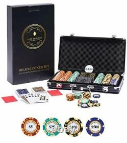 Deluxe Poker Chip Set 300 Deluxe Poker Set 300 Chips With Monte Carlo Poker