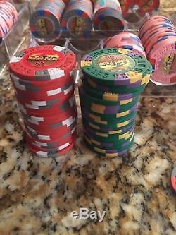 Desert Palms Clay Poker Chip Cash Game Set Similar To Paulson, ASM, BCC, Etc