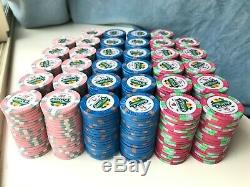 Dunes China Clay cash set poker chips