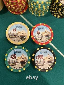 Dunes Commemorative 600 Chip Set 10g Weighted Chips. Aluminum Case Included