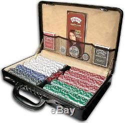 ESPN Championship Edition Poker Chip Set Of 500 Pcs withGenuine Leather Case