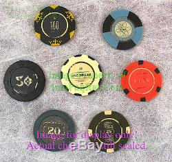 FALLOUT New Vegas Collector's Edition Lucky 7 Poker Chips EXCELLENT Set