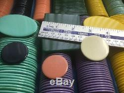 Fabulous Vintage Gaming Poker Chips Set Big Old Counters Very Early Plastic Best