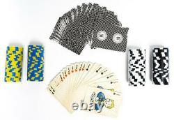Fallout Lucky 38 Deluxe Poker Set 200 Chips 2 Playing Card Decks + Carrying Case