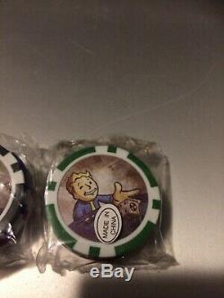 Fallout New Vegas PROMO Poker Chips with Vault Boy RARE SUPER SET