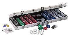 Fat Cat Texas Hold Em Poker Chip Set 500 Count