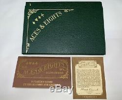 Franklin Mint Aces & Eights Collectors Heavy Metal Poker Chip Set with Wood Case