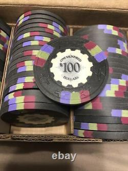 Full Set Of Sidepot BCC Protege Clay Poker Chips $1/$5/$25/$100 Discontinued