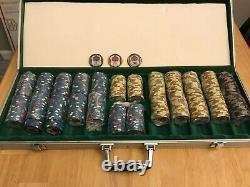 Garden City CA Paulson & BCC Real Clay Casino 490 Poker Chip Cash Set RARE