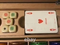 Genuine Ferrari high quality Poker chips set in Carbon Fibre box. Limited