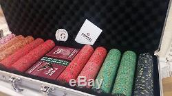 Genuine Nevada Jacks 500 Ceramic Poker Chip Set With Case and Accessories