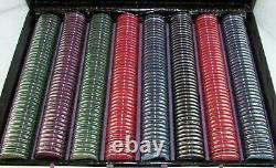 Geoffrey Parker Games England Super Luxury Black Alligator Poker Set