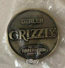 Grizzly Snuff Tobacco Poker Chip set New. Free Shipping