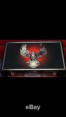 HARLEY-DAVIDSON EAGLE 400 Casino Poker Chip Set