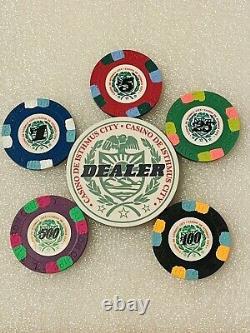 HUGE Paulson Clay Poker Chip Set Casino De Isthmus 850 Chips Rare Casino
