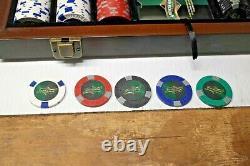 HUSTLER American Heritage poker chip set With Wood Case 500 chips total