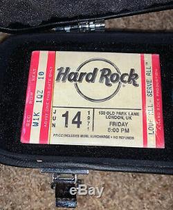 Hard Rock Cafe Guitar Case Poker Set, 200 Poker Chips, 2 Decks Playing Cards, New