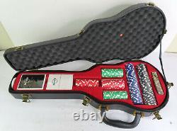 Hard Rock Cafe Limited Edition Poker Set in Guitar Case New Light Wear