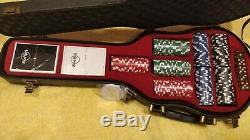 Hard Rock Cafe Poker Set In Guitar Case Limited Edition Gambling Party Fun New