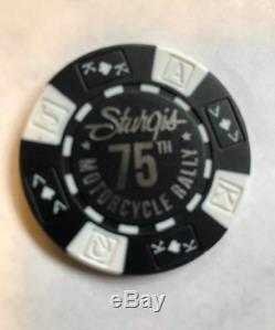 Harley Davidson 75th Anniversary Black Hills Rally Set of Poker Chip (STURGIS)