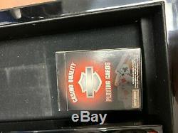 Harley Davidson Deluxe Casino Grade Poker Chip Set Limited Edition Rare