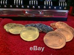 Harley-Davidson Franklin Mint Collector's Poker Set Brand New Never Used