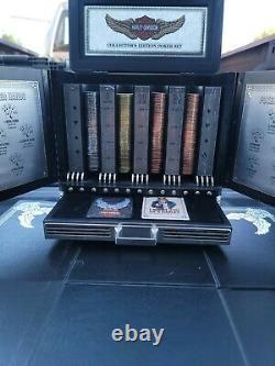 Harley-Davidson Franklin Mint Collector's Poker Set black jack Texas hold em
