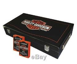 Harley-Davidson Long Bar & Shield Trademark Logo Professional Poker Set 69300D