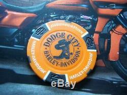 Harley Davidson Poker Chip Set 51 Chips All 50 States Plus Bonus Chip OOAK