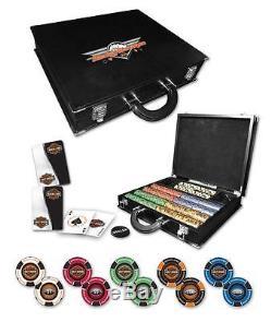 Harley Davidson Professional Leather Poker Set
