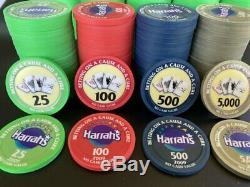Harrah's Casino Charity Poker Chip Tournament Set Paulson