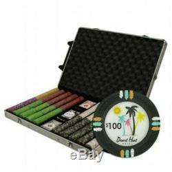 Holdem Poker Chip Set Claysmith Desert Heat 1000 Count 13.5g Aluminum Case