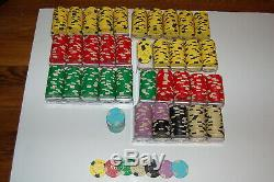 Home poker chip set Casino like Edge Spot Clay Home Set Lot 694 chips