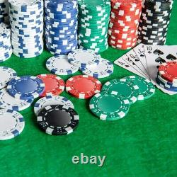 Homwom Casino Poker Chip Set 300PCS with Aluminum Case GENUINE USA FAST DELIVERY