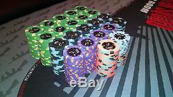 Horseshoe Casino Cleveland Paulson Poker Chip Tournament Set -Mint 440 Chips