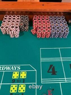 Huge Poker Home Game Chip Set Coin Inlay 14 gram $1 $5 $25 $100 Free Shipping