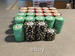 Isle of Capri Paulson Poker Chip Set (466 chips) NEW