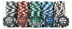 JP Commerce 500 Piece Pro Poker Clay Poker Set Casino Quality Design New Improve