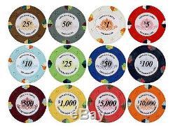 JP Commerce Monaco Casino Clay Poker Chips Set 500pc Dealer Button