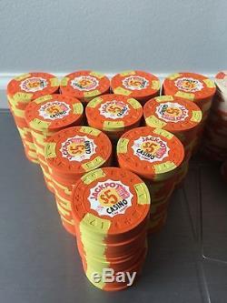 Jackpot Casino Chip Set 1971 Ewing Mold Like Paulson, 497 Chips