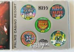 KISS Band Palms Las Vegas Concert $5 Poker Chip Set 2003 Gene Ace Peter Paul