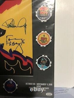 KISS Kruise IX 9 Casino Poker Chip Signed Set Casablanca Aucoin Sealed Destroyer