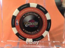LEBRON JAMES 2005-06 TOPPS NBA POKER CHIP b&w only year made iconic set #d/599
