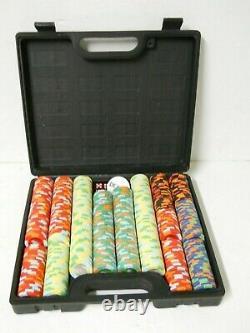 Las Vegas Casino Poker Chip Set 498 PC Clay 9gm & Dealer Chip 5 Dice with Case